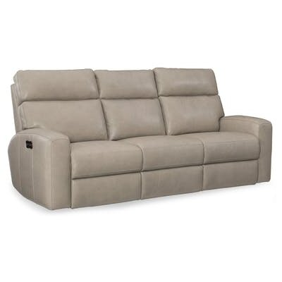 Incroyable Mowry Power Motion Leather Reclining Sofa