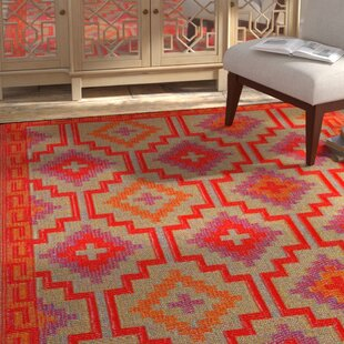 Patterson Square Red Indoor Outdoor Area Rug