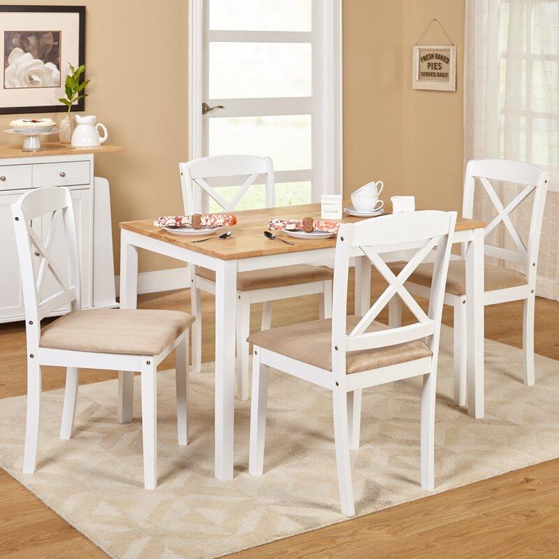 August grove scarlett 5 piece dining set reviews wayfair for Meja kitchen set