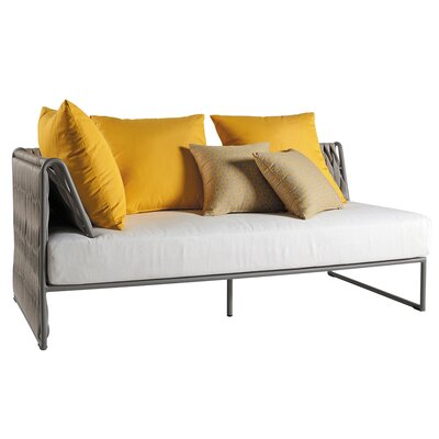 Bungalow Rose Pasquale Loveseat with Cushions Color: Natte Grey Chine