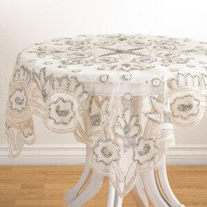 Lakshmi Hand Beaded Design Tablecloth