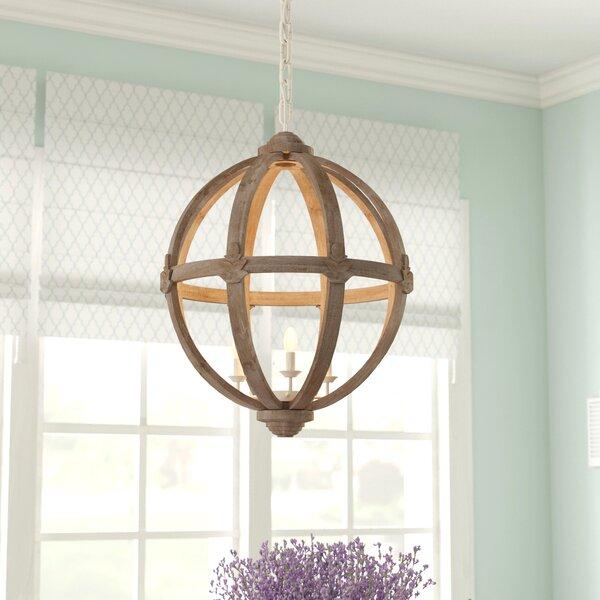 August Grove Racine 3 Light Globe Pendant Amp Reviews