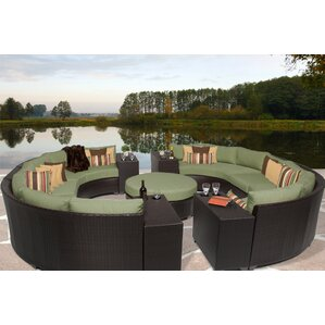 Barbados 11 Piece Sectional Seating Group With Cushion
