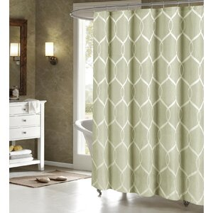 Holcomb Wrinkle Wave Fabric Shower Curtain