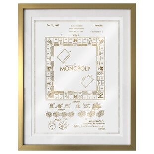 Monopoly wall art wayfair monopoly 1935 framed graphic art malvernweather Image collections