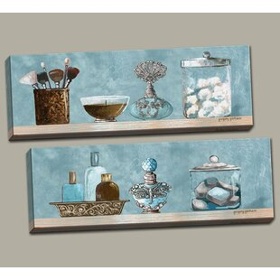 Genial U0027Powder Blue Bathroom Scenes Panelsu0027 2 Piece Acrylic Painting Print Set