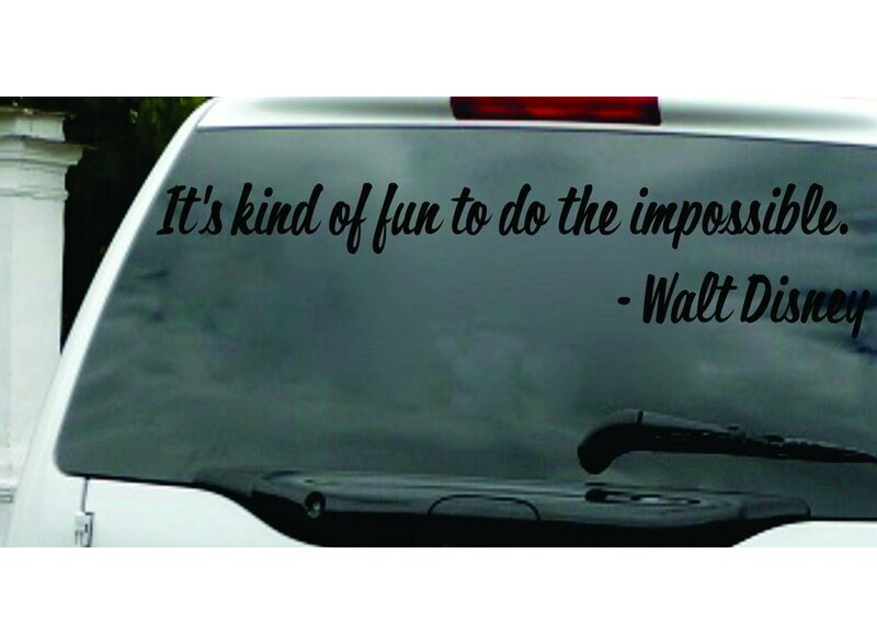 Itu0027s Kind of Fun to Do The Impossible - Walt Disney Wall Decal  sc 1 st  Wayfair & Design With Vinyl Itu0027s Kind of Fun to Do The Impossible - Walt ...
