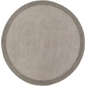 Madison Square Light Gray/Charcoal Solid Area Rug