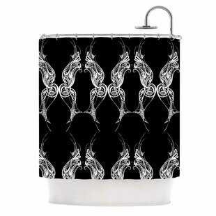 Wings Art Deco Shower Curtain