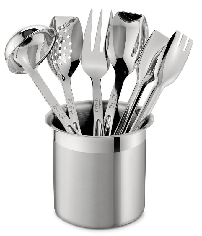 all-clad all professional tools 6 piece cook serve tool utensil