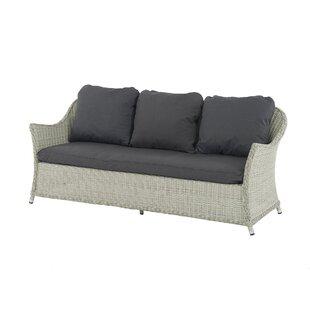 Ridgewood 3 Seater Garden Sofa with Cushion by Lynton Garden