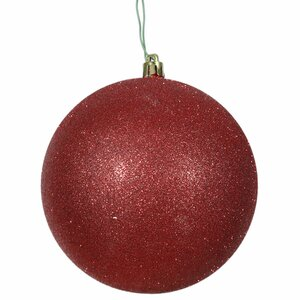 Gliter Christmas Ball Ornament with Cap (Set of 4)