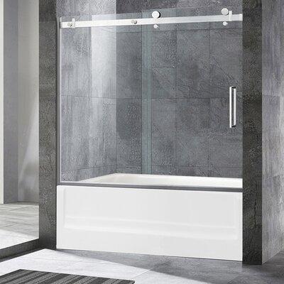 Wet Republic Trident Lux 60 X 76 Single Sliding Frameless Shower