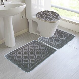 save - 3 Piece Bathroom Rug Sets