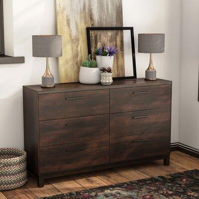 Gracie Oaks Shrout 6 Drawer Double Dresser