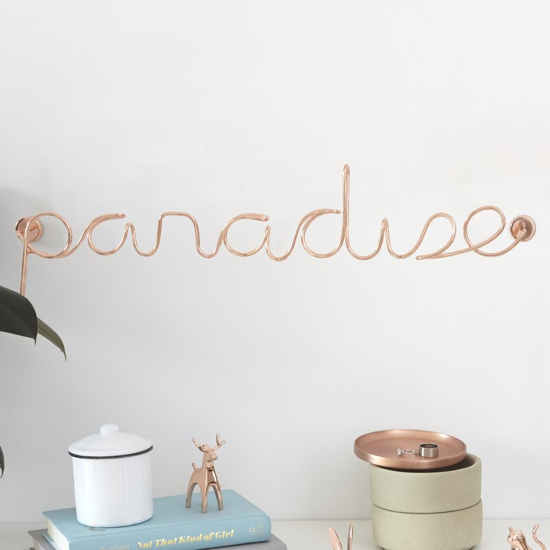 Wired Words Paradise Wall Decor