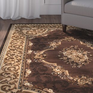 Andrews High Quality Woven Fl Printed Double Shot Drop Sch Carving Chocolate Area Rug