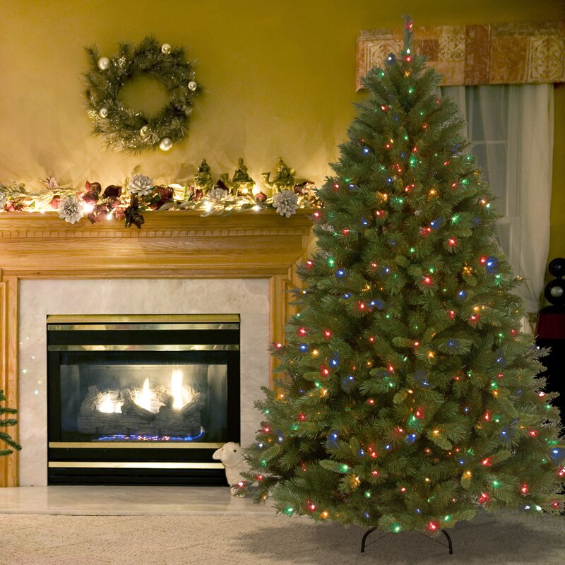 National Tree Co. Winchester Pine 7.5' Green Artificial Christmas ...