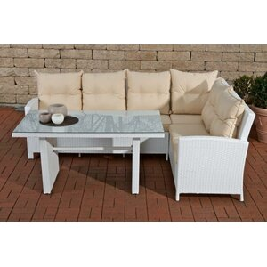 6-Sitzer Gartengarnitur mit Kissen von Home & Haus