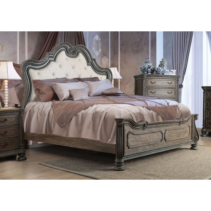 One Allium Way Portsmouth Upholstered Platform Bed Wayfairca - Bedroom furniture portsmouth