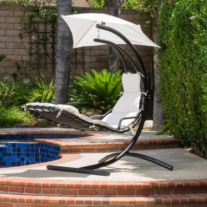 La Vida Polyester Hanging Chaise Lounger With Stand