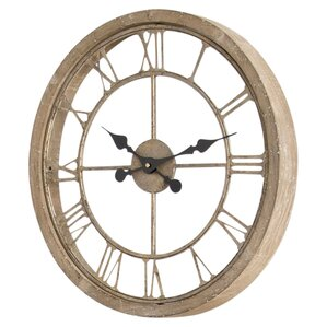 natural wood wall clock