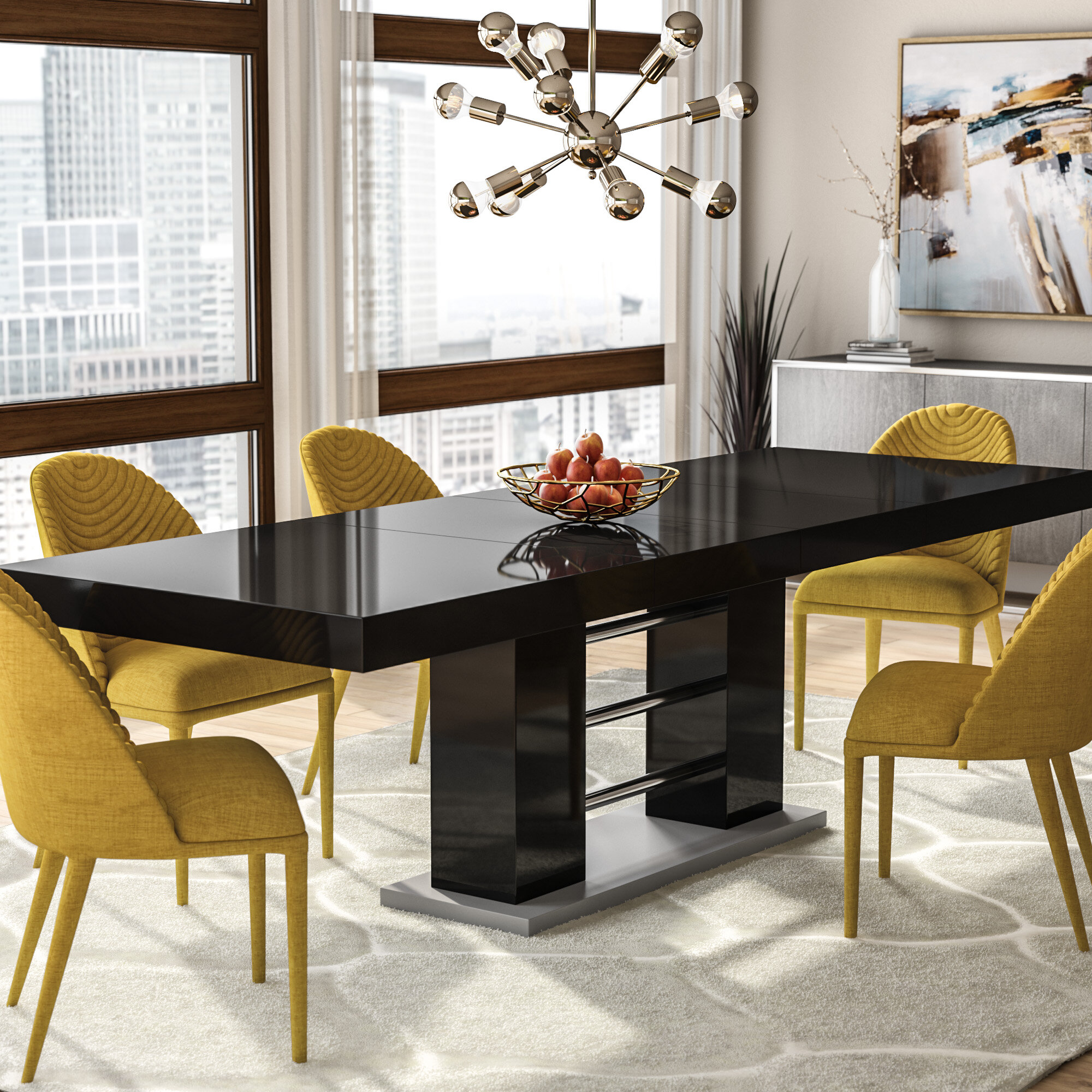 Wade Logan Pocomoke Extendable Dining Table Reviews