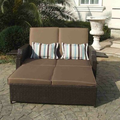 Double Chaise Lounge With Cushions
