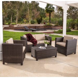 Kappa 4 Piece Seating Group with Cushion