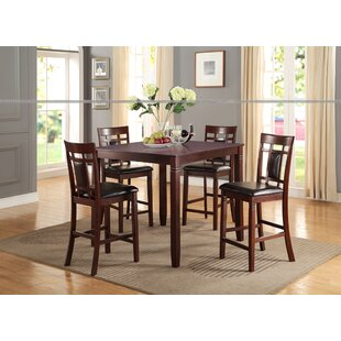 Candice Wood 5 Piece Counter Height Dining Set