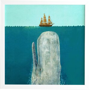 'The Whale' Framed Graphic Art