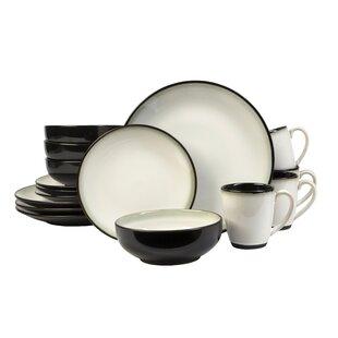 Nova 16 Piece Dinnerware Set Service for 4. by Sango  sc 1 st  Wayfair & Sango Nova Dinnerware | Wayfair