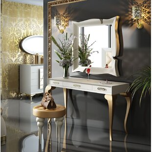 Lighted makeup vanity sets wayfair kirkwood bedroom makeup vanity set with mirror aloadofball Gallery