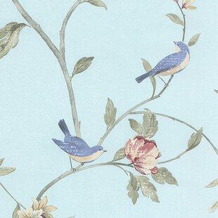 Birds And Flowers Wallpaper Wayfair