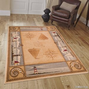 African Contours Brown Area Rug