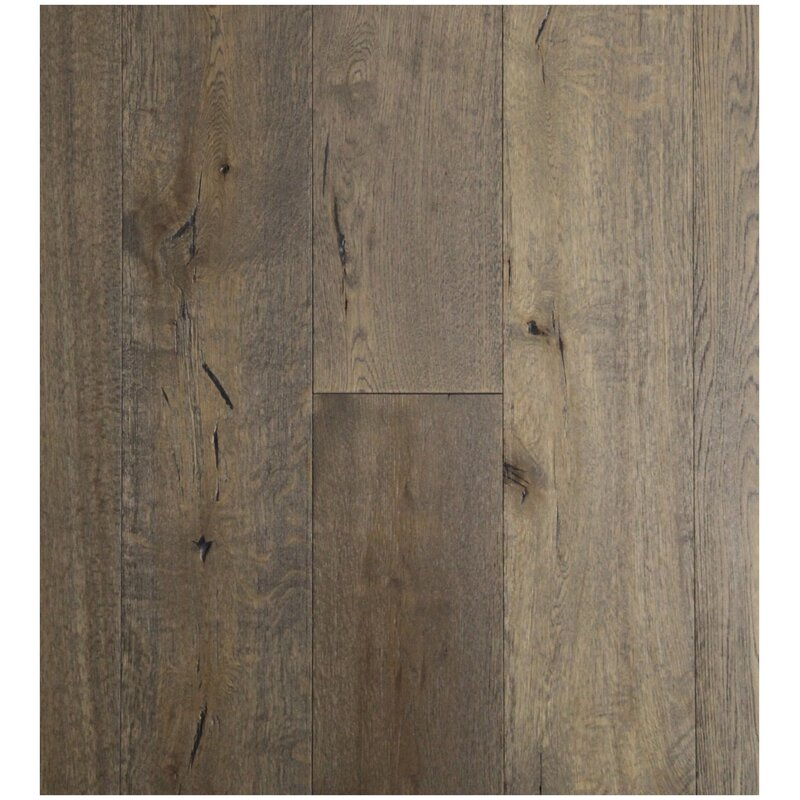 7 1 2 Engineered White Oak Hardwood Flooring In Gettysburg Grey