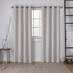 Tamara Solid Room Darkening Grommet Curtain Panels (Set of 2)