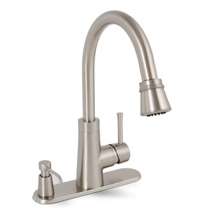 Premier Faucet Essen Single Handle Pull Down Kitchen Faucet with Soap Dispenser