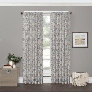 Smithwick Damask Room Darkening Rod Pocket Single Curtain Panel