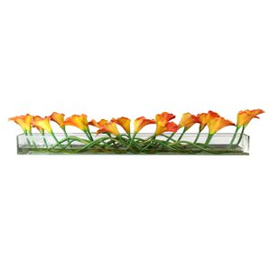 Calla Lilies Centerpiece in Planter