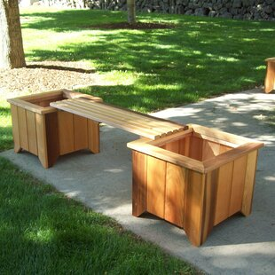 Outdoor Planter Bench Planter outdoor benches youll love wayfair wood planter bench workwithnaturefo