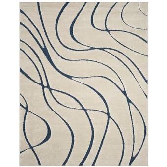 Stacie Cotton Creamblue Area Rug Reviews Allmodern
