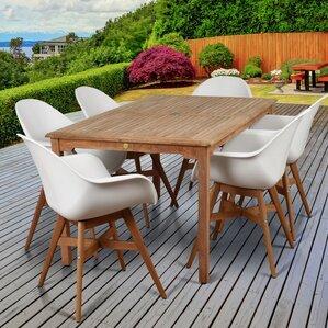 Alshain Teak 7 Piece Dining SetTeak Patio Furniture You ll Love   Wayfair. Teak Wooden Outdoor Furniture. Home Design Ideas