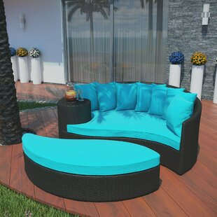 Greening Outdoor Daybed With Ottoman Cushions