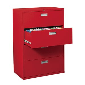 Superb 600 Series 4 Drawer Lateral Filing Cabinet
