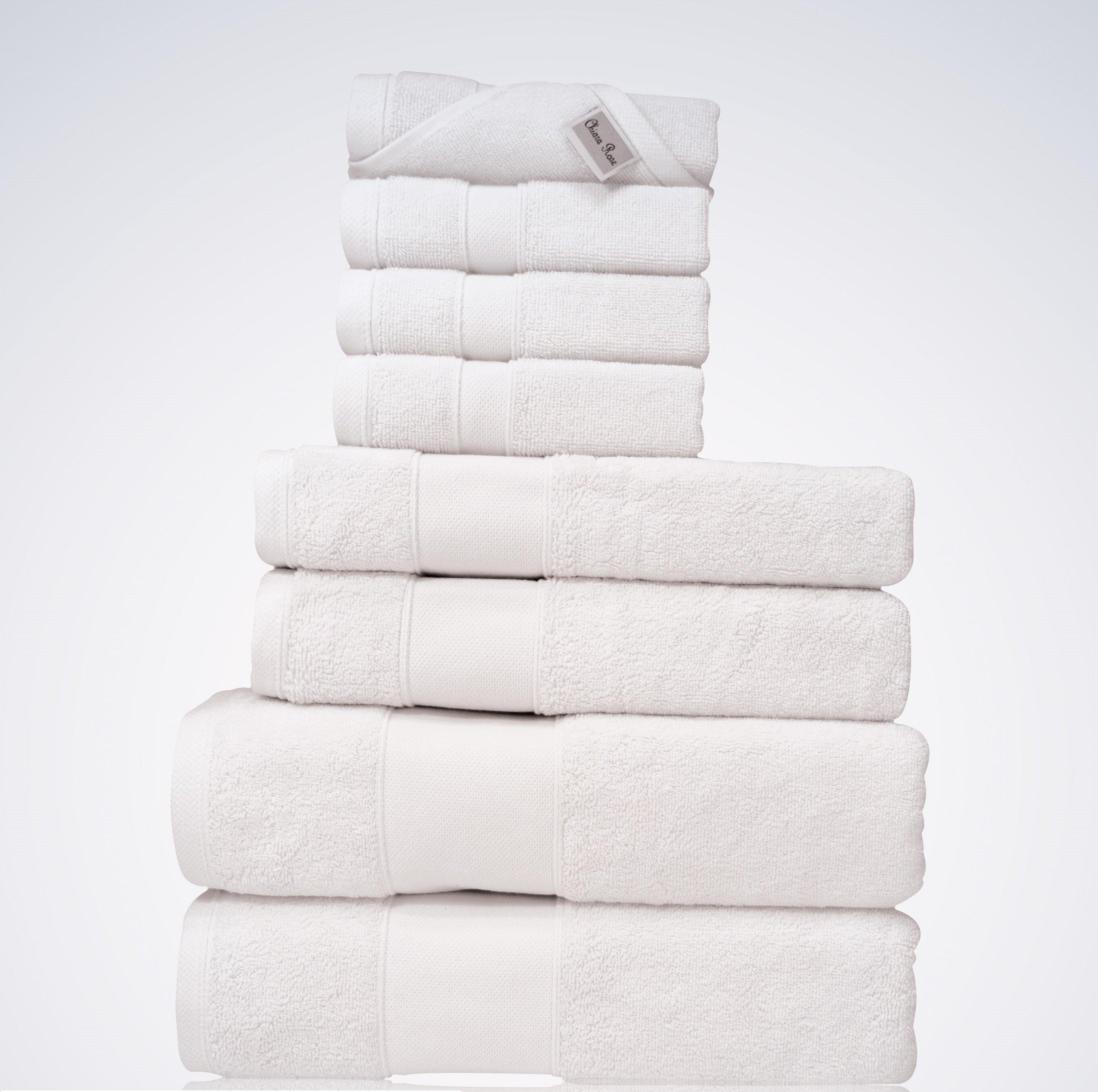 Chiararose Lint Free 8 Piece Turkish Cotton Towel Set Wayfair