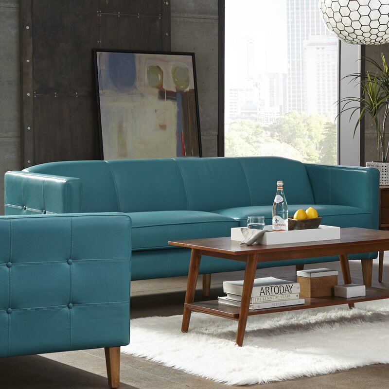 Lazzaro Leather Miami Leather Sofa & Reviews | Wayfair