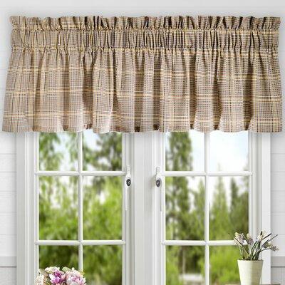 Morrison Plaid Cotton Tailored Curtain Valance