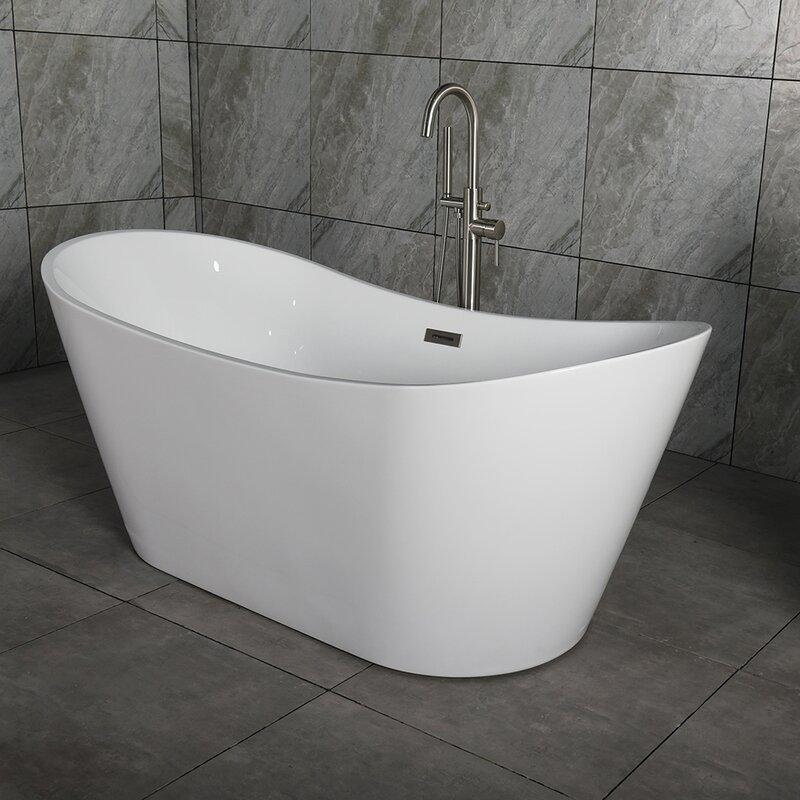 "WoodBridge 67"" X 32"" Freestanding Bath Therapy Bathtub"