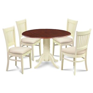 Beri 5 Piece Drop Leaf Solid Wood Dining Set